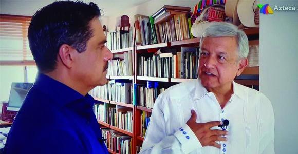 En casa de Ándres Manuel López Obrador con Javier Alatorre